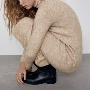 Zara wool blend long dress
